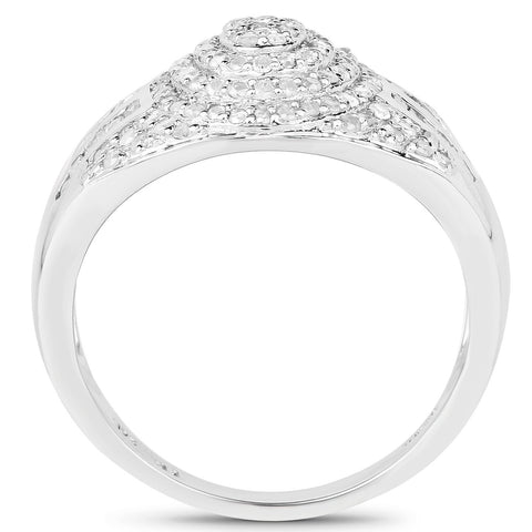 Diamond Pavé Ring in Sterling Silver