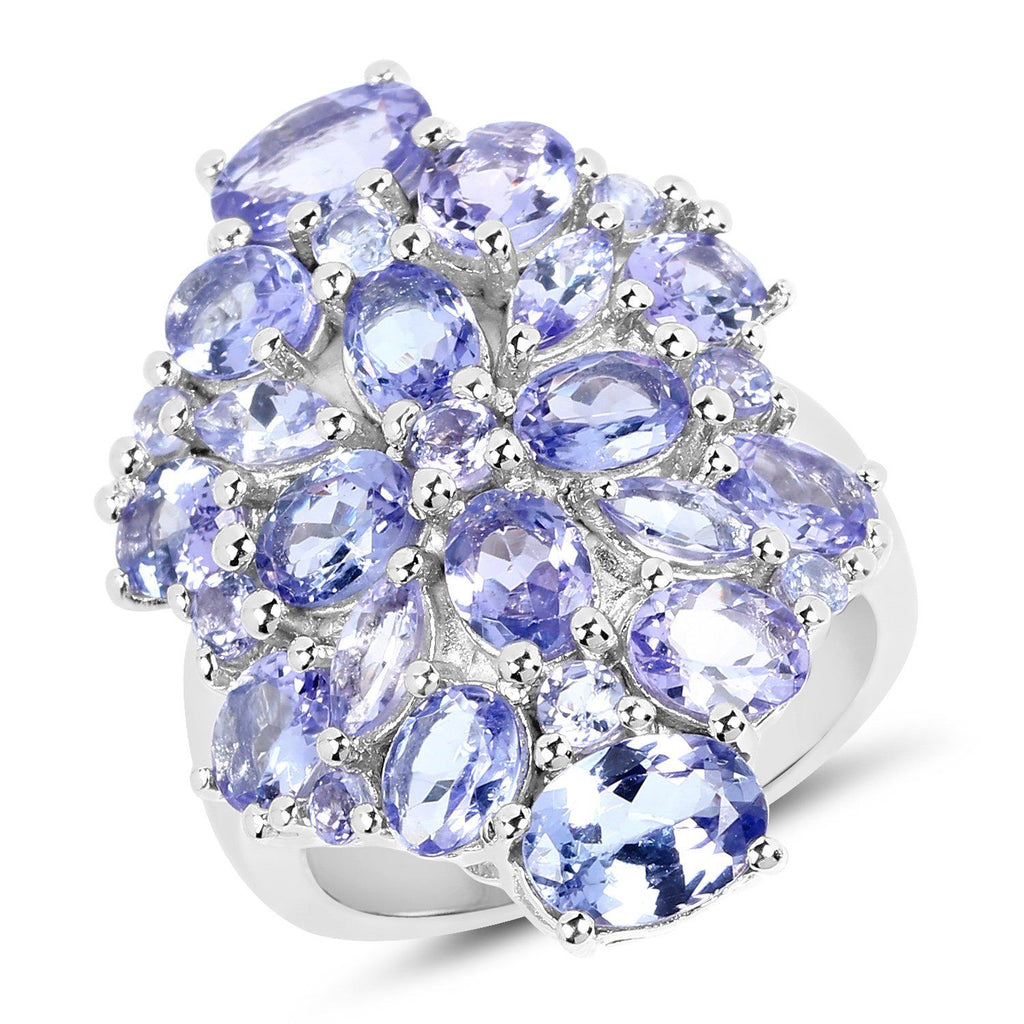 Tanzanite Pavé Ring in Sterling Silver