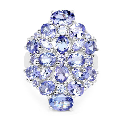 Image of Tanzanite Pavé Ring in Sterling Silver