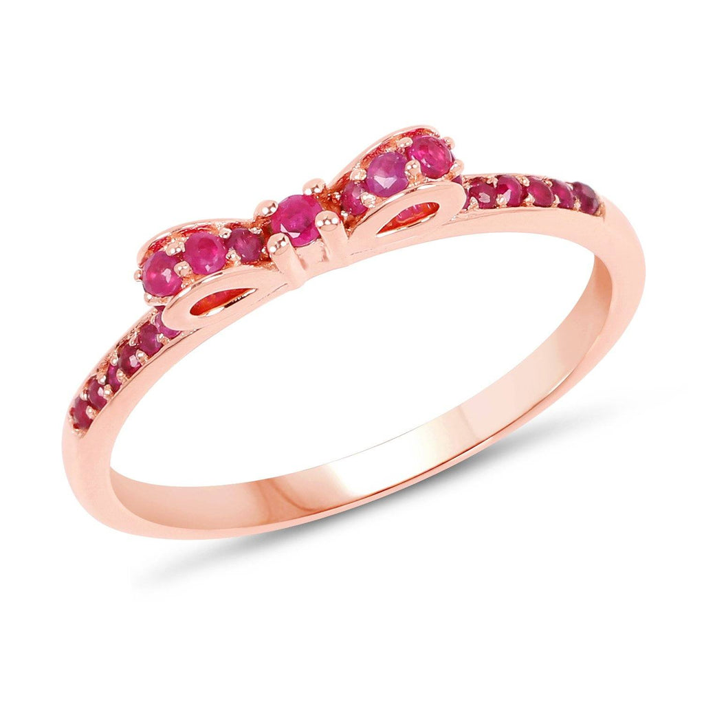 Ruby Micropavé Ring in 14K Rose Gold