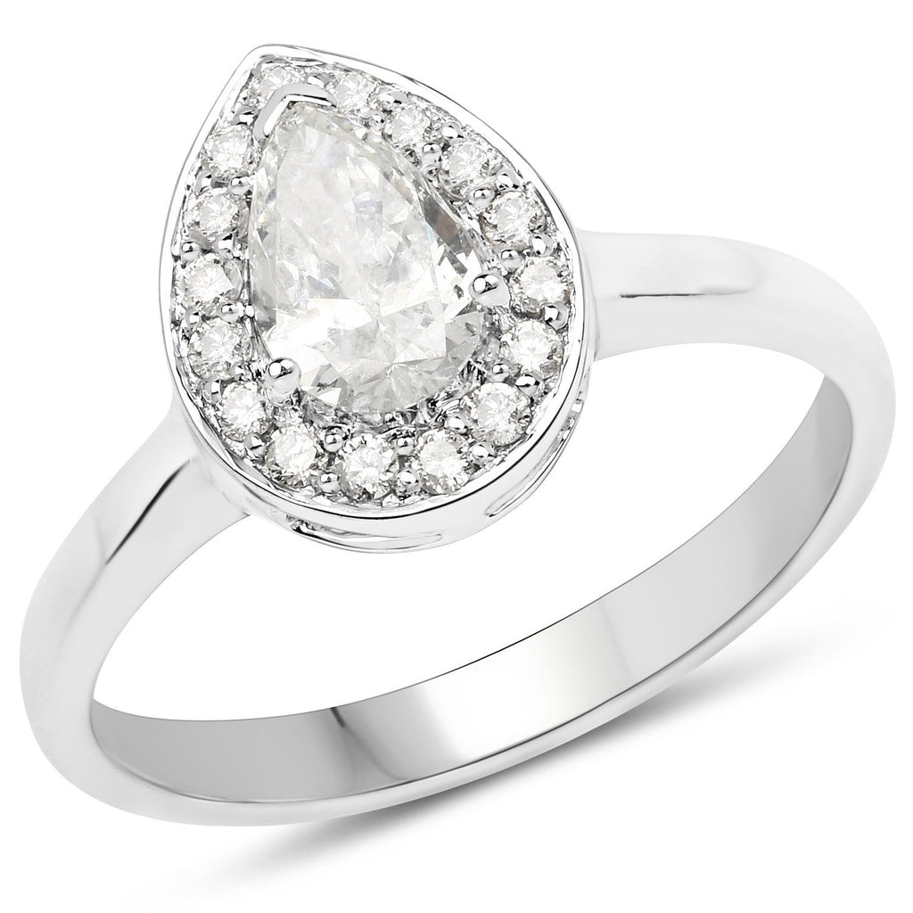 Marquise Diamond Ring in 14K White Gold