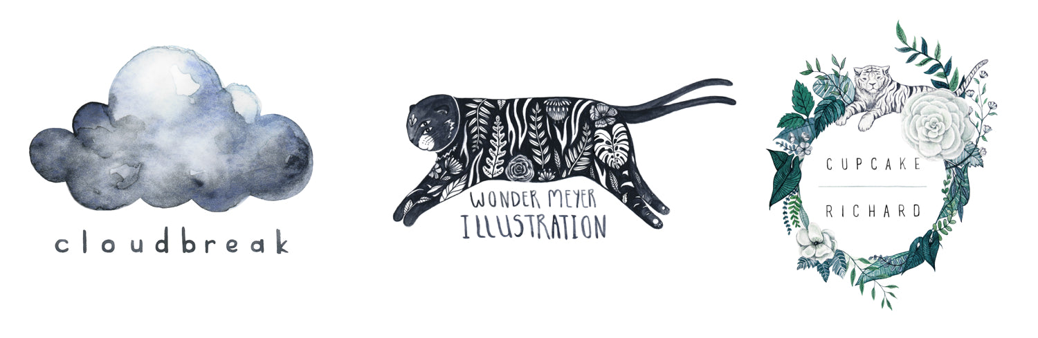 one and only illustration tiger cat logo