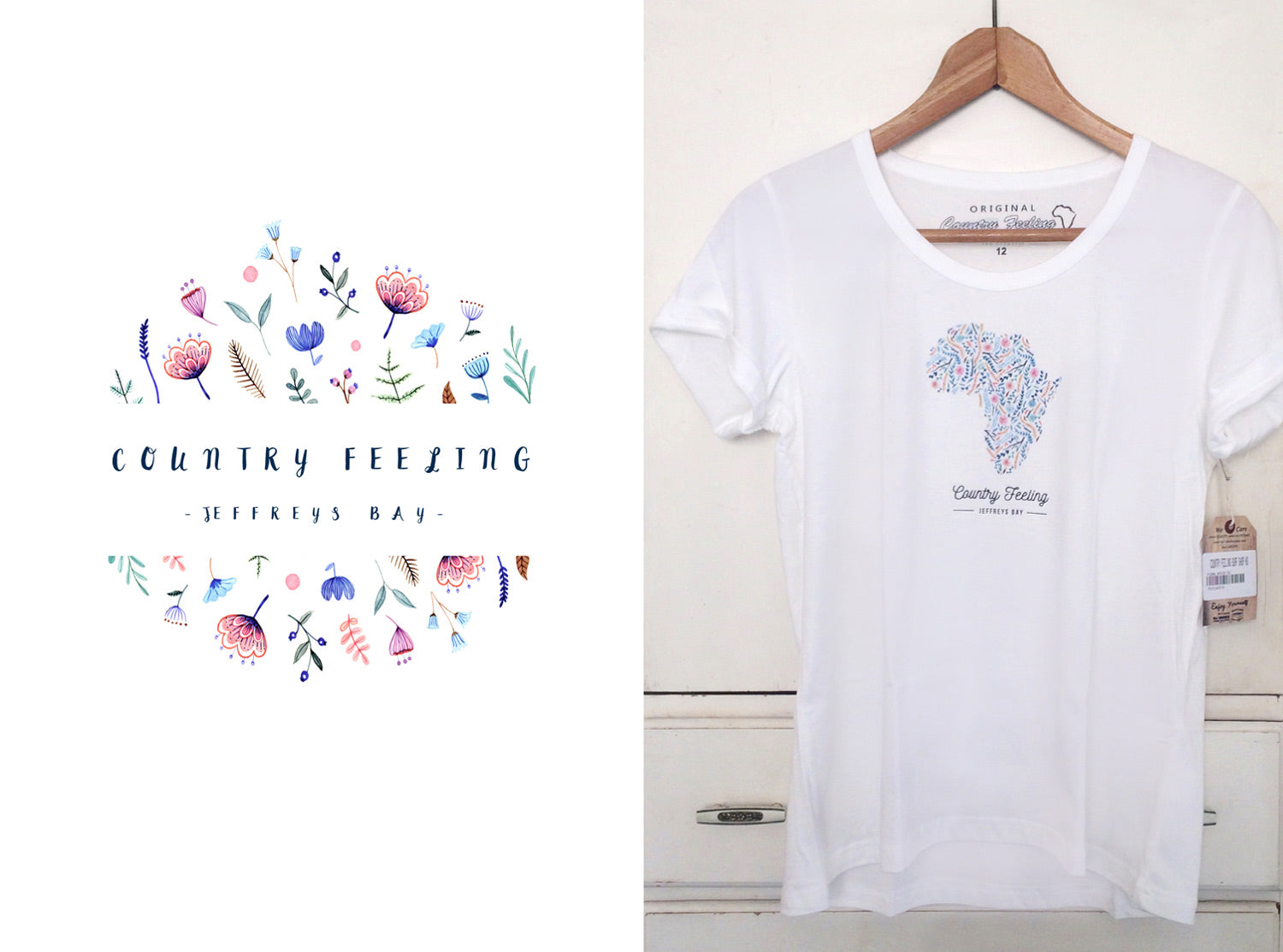 one and only illustration t-shirt design Jbay country feeling