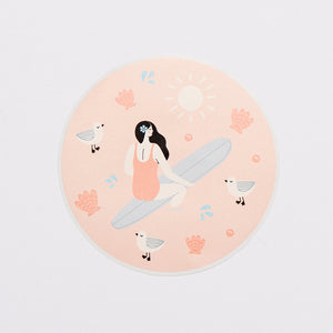 'Summer Days' Disc Sticker
