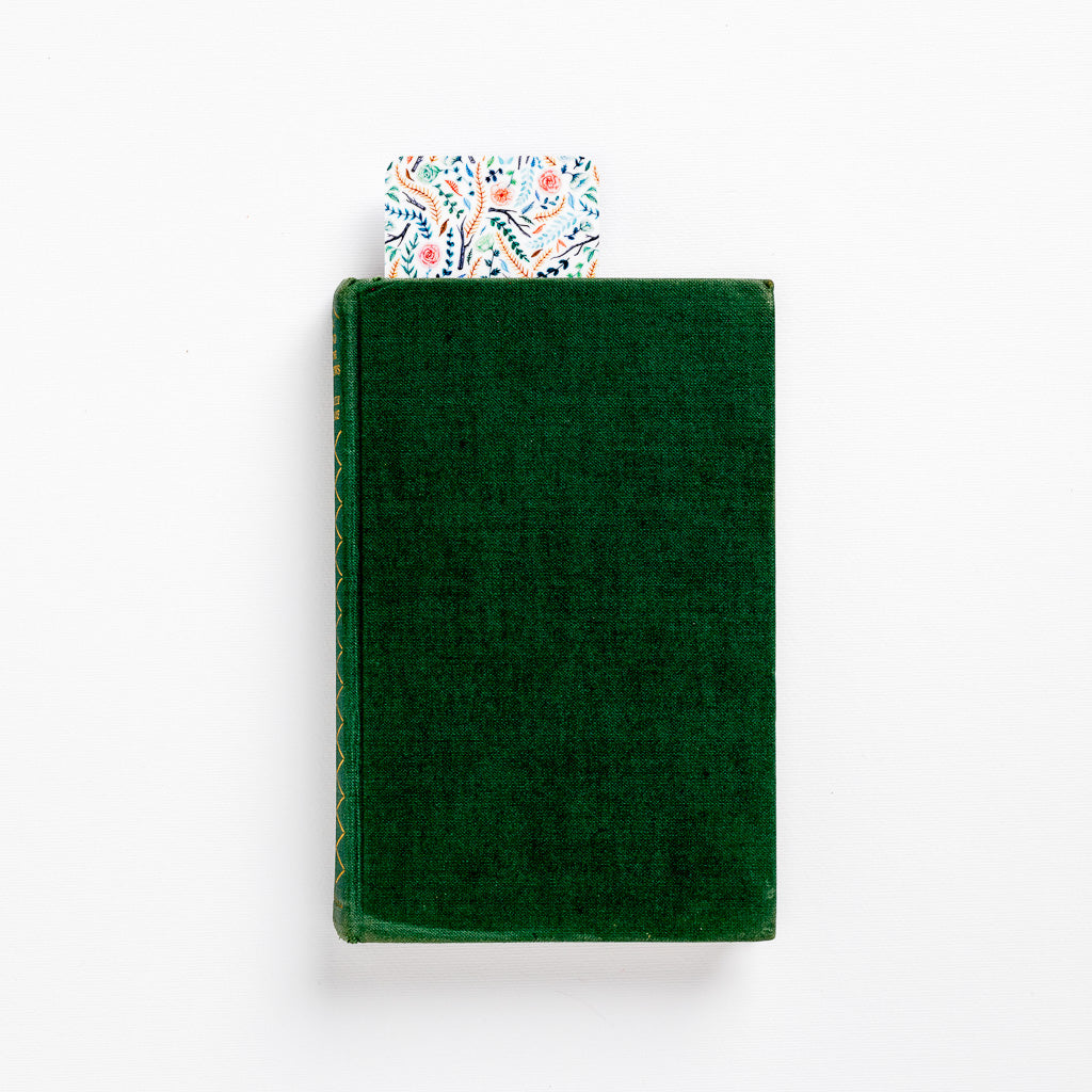 flower floral bookmark book green colourful