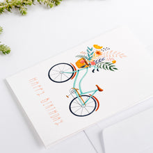 Load image into Gallery viewer, greeting cards happy birthday bicycle wonder meyer illustration detail