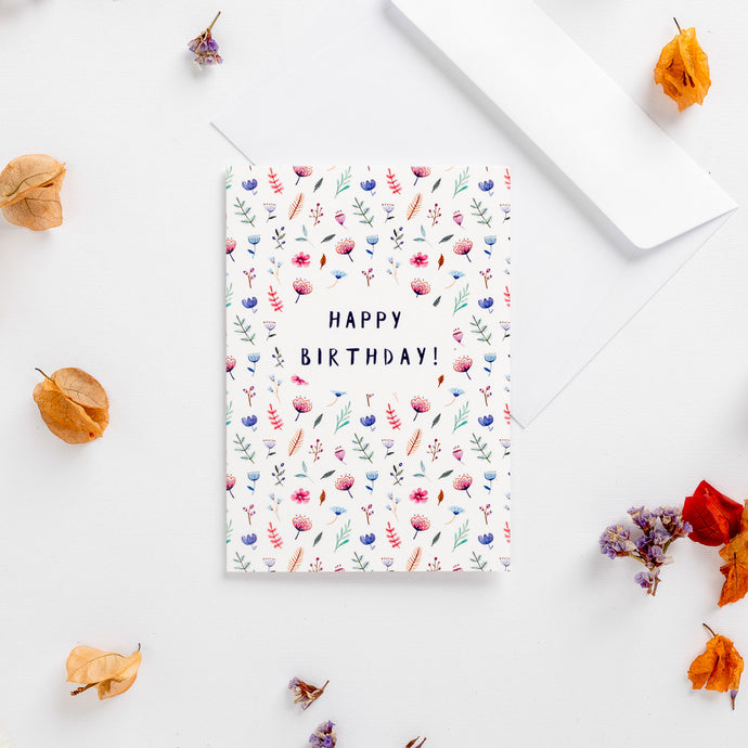 greeting cards happy birthday flower bomb wonder meyer illustrations