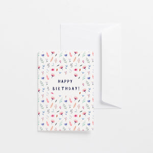 greeting cards happy birthday flower bomb wonder meyer illustrations product