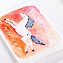 Load image into Gallery viewer, greeting card pure magic unicorn wonder meyer illustrations detail