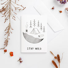 Load image into Gallery viewer, greeting cards stay wild white wonder meyer illustrations