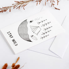 Load image into Gallery viewer, greeting cards stay wild white wonder meyer illustrations detail