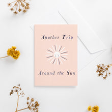 Load image into Gallery viewer, greeting card sun pink wonder meyer illustrations trip adventure pastel