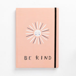 hard cover note book sun happy be kind love happiness lined front clean simple