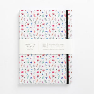 flower bomb pattern notebook hard cover pastel girls girly ladies diary lined mom