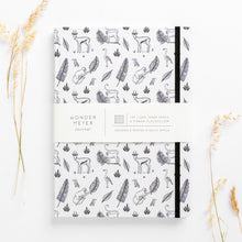Load image into Gallery viewer, jungle hardcover note book diary monkeys bokkies