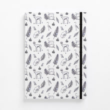 Load image into Gallery viewer, jungle hardcover note book diary monkeys bokkies front detail