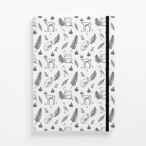 jungle hardcover note book diary monkeys bokkies front detail