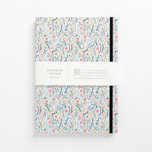 Load image into Gallery viewer, flowers meadow colourful floral hard cover notebook diary front cover