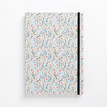Load image into Gallery viewer, clean pattern flowers meadow colourful floral hard cover notebook diary