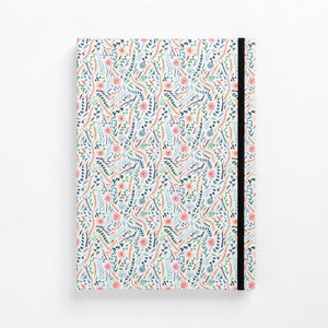 clean pattern flowers meadow colourful floral hard cover notebook diary