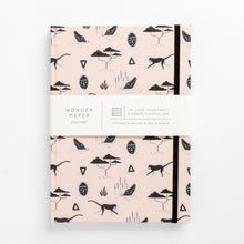 Load image into Gallery viewer, muti african tribal print note book south africa pink branding