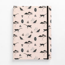 Load image into Gallery viewer, muti african tribal print note book south africa pink front