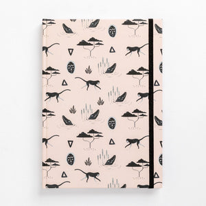 muti african tribal print note book south africa pink front