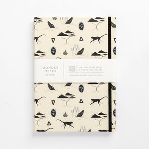 muti sand pattern tribal african mask monkey notebook front