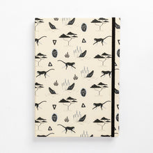 Load image into Gallery viewer, book front muti sand pattern tribal african mask monkey notebook