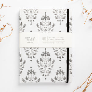 fancy monkey notebook damask front