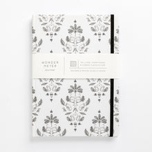 Load image into Gallery viewer, Fancy monkey notebook damask front of cover