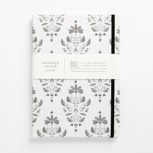 Fancy monkey notebook damask front of cover