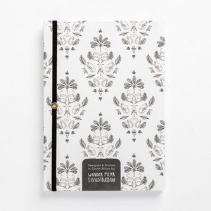 fancy monkey notebook damask front journal back