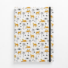 Load image into Gallery viewer, cheetah notebook palms sun eyes moon diary journal no brand