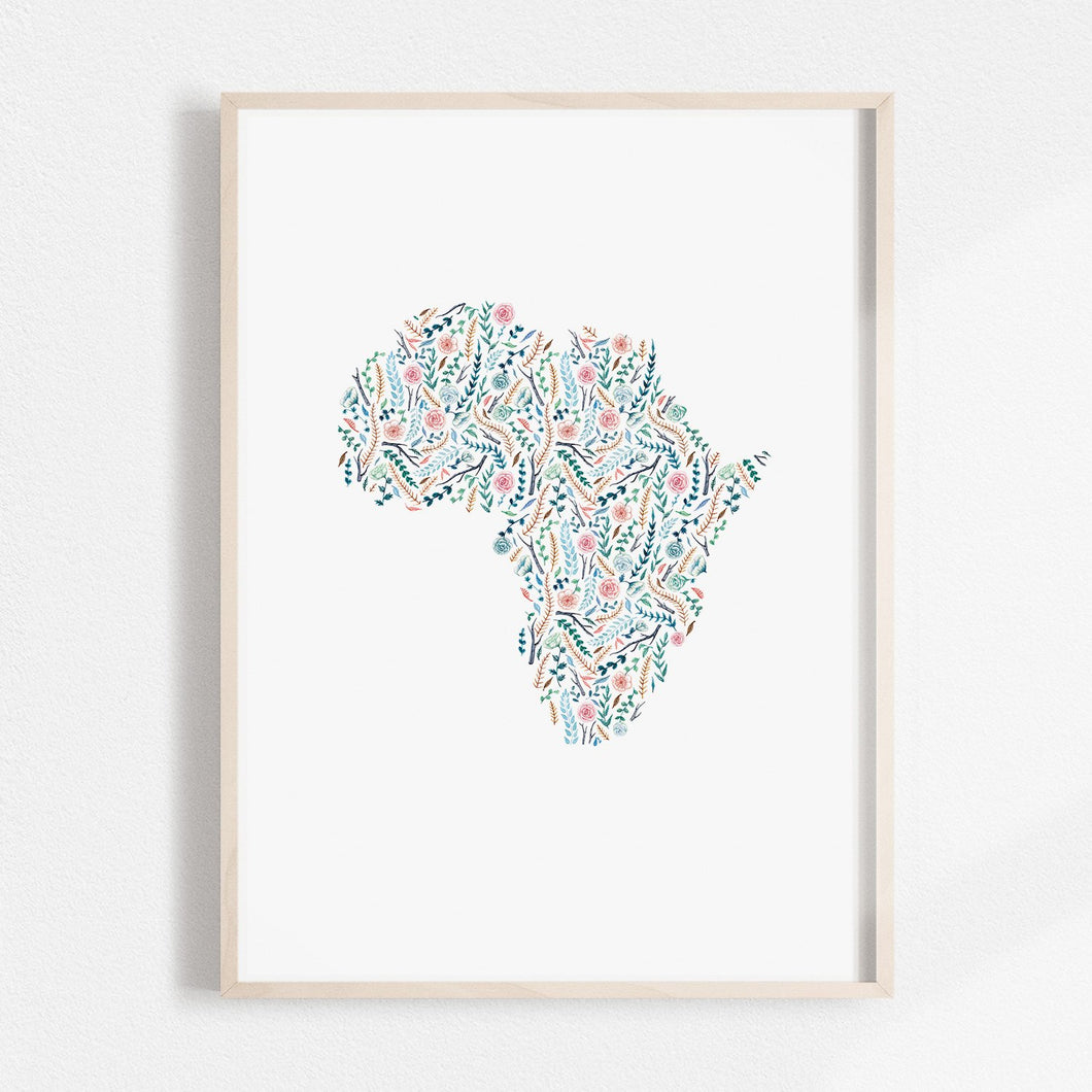 africa illustration floral growth grow