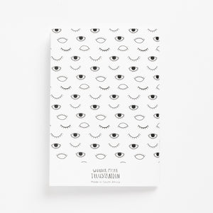 eyes on you soft cover journal back