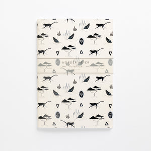 muti sand soft cover journal front brand