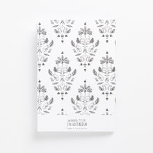 Load image into Gallery viewer, sa damask soft cover journal back