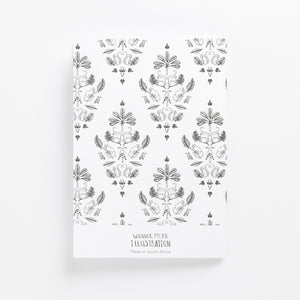 sa damask soft cover journal back