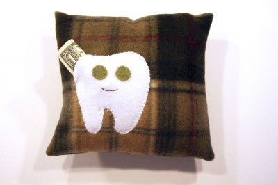 Plaid Tooth Fairy Pillow by cmh design