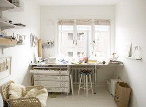 Camilla Engman's work space