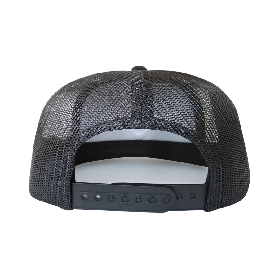 JOCKEY TRUCKER FOAM NEGRO CHEVRON BORDADO