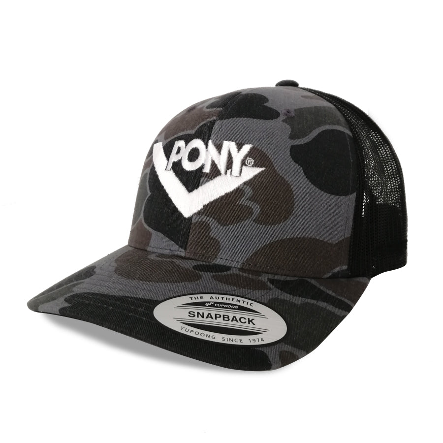 JOCKEY TRUCKER CAMU GRIS CHEVRON BORDADO