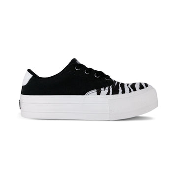 PLATFORM ANIMAL CANVAS NEGRO BLANCO