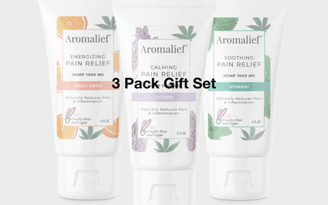 Aromalief Hemp Pain Relief Cream 3 pack Gift Set