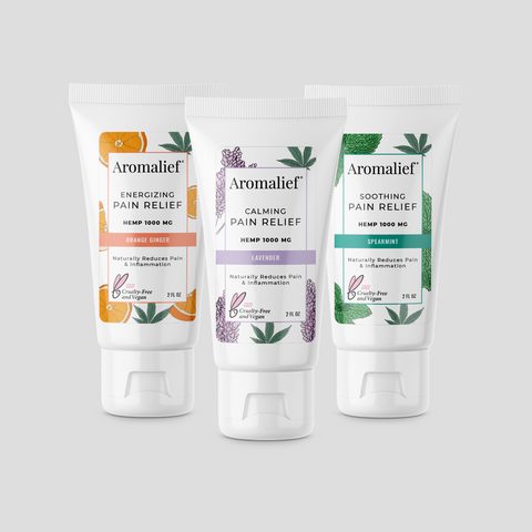 Aromalief Hemp Pain Relief Creams 3 pack Gift Set