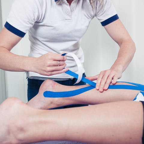Physical Therapy Taping Treatment for pain relief