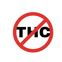 No THC symbol for Hemp Seed Oil for Sciatica Pain Relief