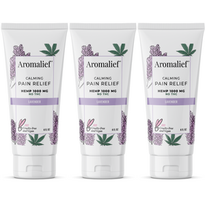 Aromalief Scented Pain Relief Cream in Lavender 3 Pack