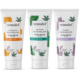 Aromalief Hemp Cream in 3Pack with Orange Lavender and Spearmint